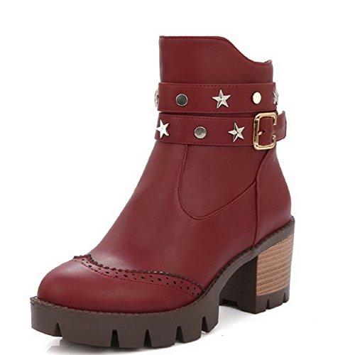 allhqfashion-womens-kitten-heels-soft-material-low-top-solid-zipper-boots-red-40