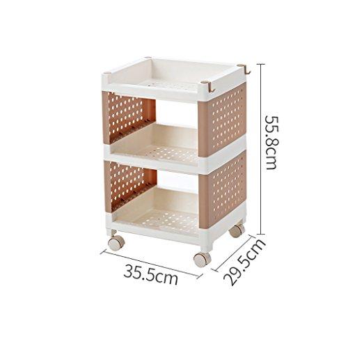 lagefach aus Kunststoff, Badaufbewahrungsorganisator, Küchenablage, Zwischenablage (Color : A, Size : 35.5 * 29.5 * 55.8CM) ()