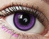 Farbige Kontaktlinsen Jahreslinsen lila, violet ' violet' CUTIE-SERIE ohne Stärke COSPLAY LINSEN ,...