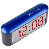 Vkospy Camere da Letto Digital Alarm Clock 12H 24H Display a LED Temperatura Snooze Funzione Home Decor Specchio elettronico di Allarme