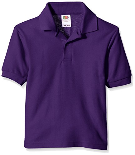 Fruit of the Loom Jungen T-Shirt Pique Polo, Violett (Violett), Gr. 12-13 Jahre -