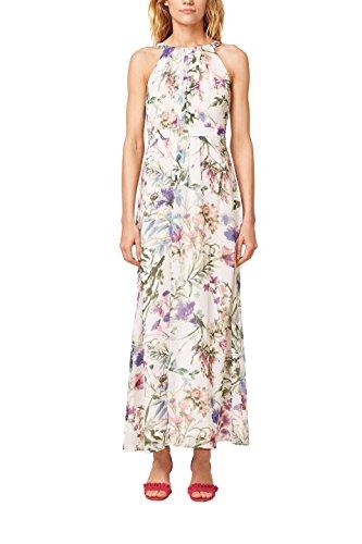 ESPRIT Collection Damen Kleid 058EO1E029, Weiß (Off White 110), 44