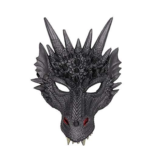 Teen Kostüm Tier - Halloween Kostüm Moving Mouth Mask 3D Tier Drachen Maske für Cosplay - Unisex-Adult Standard Drachen Halbmaske für Kid Teens Maskerade Party