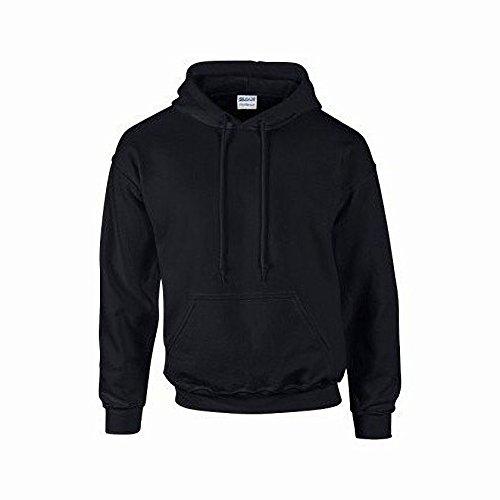 Gildan Heavyweight DryBlend Unisex Kapuzenpullover / Hoodie / Kapuzensweater M,Schwarz Schwarz Unisex Pullover
