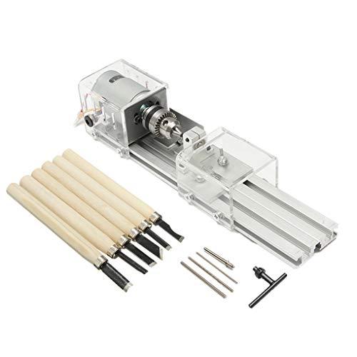 12-24 Mini Granos Torno Pulidora Conjunto de Bricolaje carpintería de Madera Fresadora de Pulido Molino de Bolas Taladro Kit de Herramienta rotativa