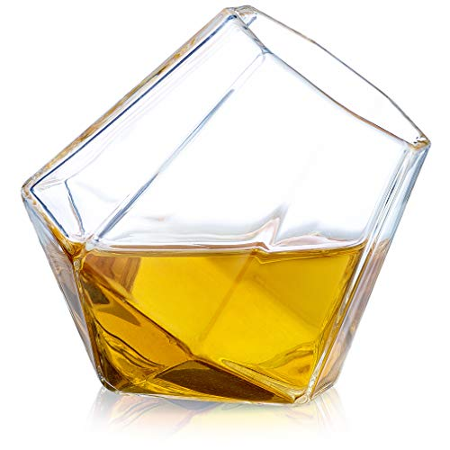 Dragon Glassware Diamant Shot-Gläser, 1,7 Unzen, Geschenkverpackung - 2er-Set - 1.7 Unzen-glas