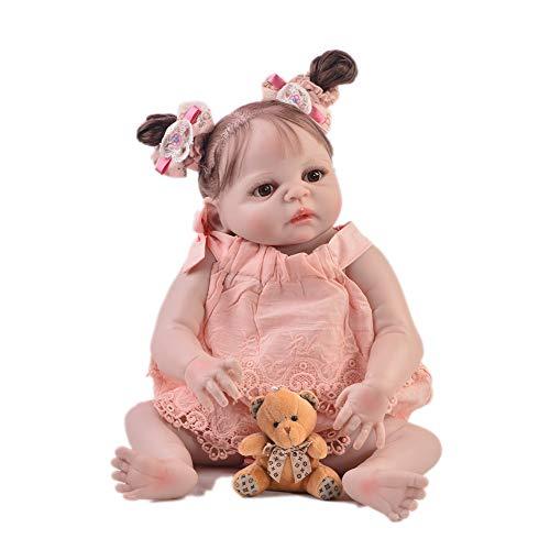Lebensechte Babypuppen Reborn Babys Mädchen Baby Geboren Puppe Weiche Babypuppe 22 Zoll 57cm