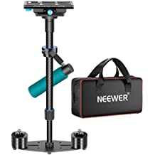 """Neewer® fibra de carbono 24""""/60cm Estabilizador de mano con placa de liberación rápida de 1/4 """"y 3/8"""" Tornillo para DSLR y cámaras de vídeo mas que 6,6 libras / 3kg"""