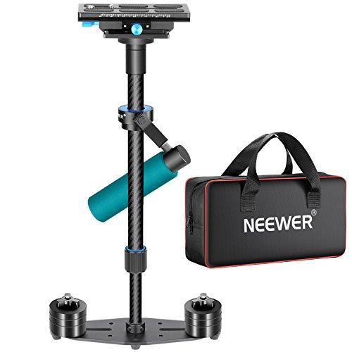 Neewer Carbon Fiber 24 inches/60 centimeters Handheld Stabilizer with 1/4,3/8 inches Quick Release Plate for DSLR Camera DV Video Camcorder Photography Film Making,Load up to 6.6 pounds/3 kilograms