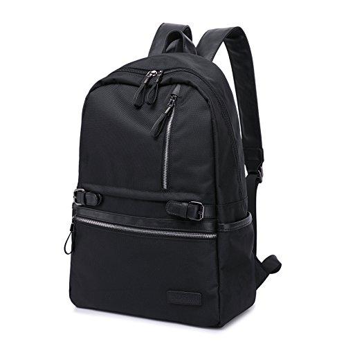 Business Notebook Laptop Rucksack TEAMEN geeignet für bis zu 15,6 Zoll (38 cm), Damen und Herren Wasserdicht Daypacks Schulrucksack Wanderrucksack Sportrucksack Reiserucksack Schwarz (schwarz)