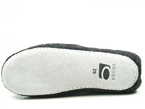 Rohde Nepal 7991 Schuhe Herren Pantoffeln Hausschuhe Filz Schwarz