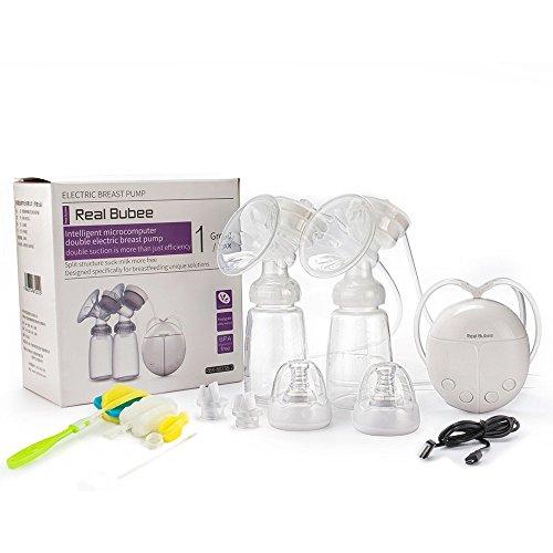 Paragon Elektrische Brustpumpe Komfort Automatische Elektrische Breastfeeding Pump Set Milchpumpe mit 2 Nippel 2 Milchflasche