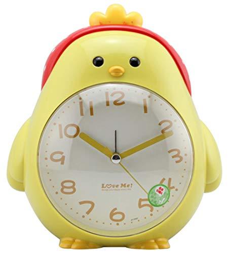 cker Doppelter Ton Stumm Karikatur Alarm Clock Kind Schlafzimmer Nachtlicht Wecker Yellow ()