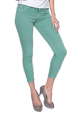True Religion Jean Skinny BROOKLYN CROPPED Vert