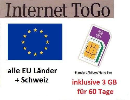 Prepaid datos tarjeta SIM Internet móvil Italia