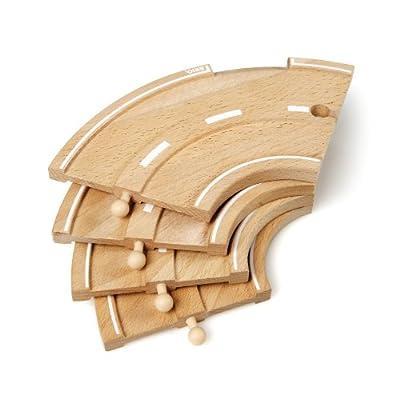 Brio 33205 - Carretera curva de madera para coches de juguete [importado de Alemania] por Brio