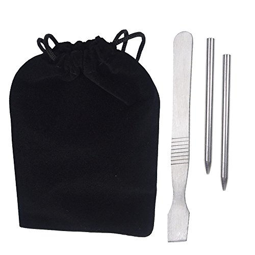 Gnognauq Paracord Stitching Kit 2 FID Lacing Needles 7 6cm 1 Smoothing Tool  Solid Steel with Velvet Bag for Starter
