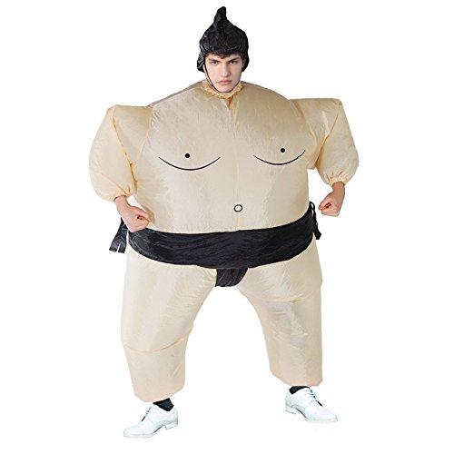 stüm Japan Sumo Ringer T-Rex für Halloween Karneval Fastnacht Fasching Kostüm Erwachsenenkostüm Fatsuit Fett Anzug ()