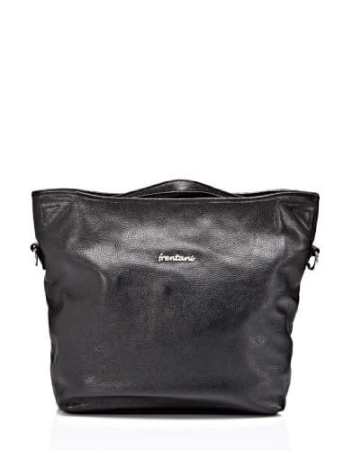 Frentani Handbag - Shopper - soft, high class genuine leather - black