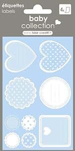 Maildor 201615C Sachet de 24 d'étiquettes Baby Bleu