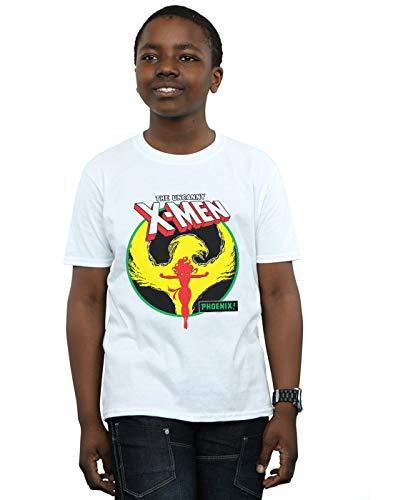 Marvel Niños X-Men Phoenix Circle Camiseta Blanco 9-11 Years