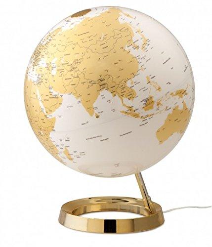 Unbekannt Tecnodidaktische Weltkarte Atmosphere Light&Colour Metal Gold Farbe 0331F7