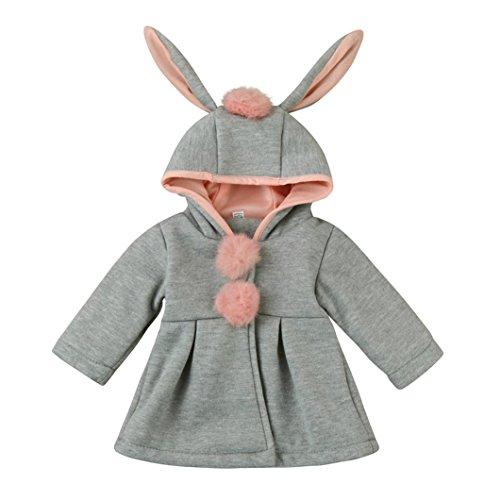 TPulling Kinder Herbst- Und Wintermodelle Kapuzenmantel Umhangjacke Dicke Warme Kleidung (10, (Halloween Top Machen Leicht 10 Zu Kostüme)