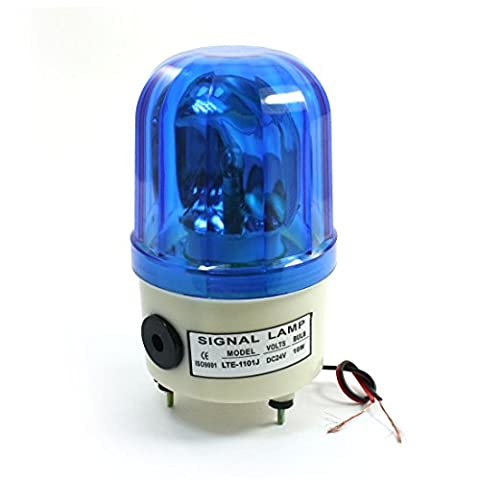 DC 24V 10W Alarme Rotary lampe industrielle Signal lumineux Lte-1101j Bleu