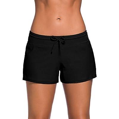YIFEIKU Co.,Ltd. Swim Shorts Damen Sport Damen Tankini Unten Shorts mit Seitlichen Split Bund Sommer Strand Schwimmkleidung from YIFEIKU Co.,Ltd.