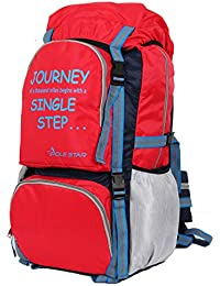 POLE STAR Rocky PRO 60 lt Red Rucksack with rain/dust Cover I Hiking & Trekking Backpack Bag