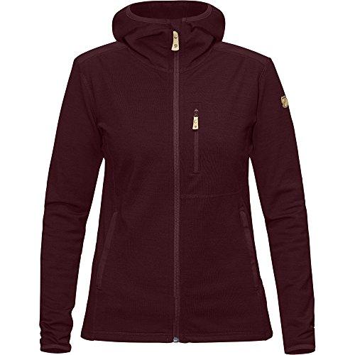 Fjällräven Damen Keb Fleece Hoodie W Pullover & Sweatshirt, Dark Garnet, S