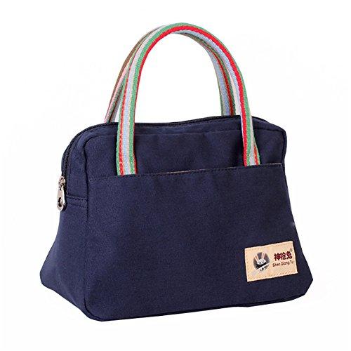 Fortuning's JDS® Classico canvas casuale borsa della borsa quotidiana delle donne, blu blu