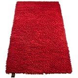 Gözze 1010-4999-7 - Alfombrilla multiusos (hilo de lana), 50 x 70 cm, color rojo