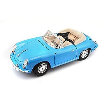 Bburago 12025Bl - Véhicule Miniature - Modèle À L'Échelle - Porsche 356 B Cabriolet - 1961 - Echelle 1/18 Coloris aléatoire