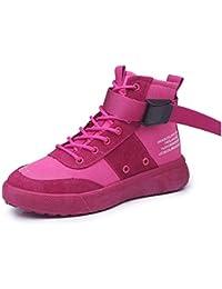 YSFU Botas Botines De Mujer Patchwork Lace Up Estilo Hip-Hop Zapatos Casual para  Mujer Bootie Otoño Invierno Al Aire… 772af76d5f3