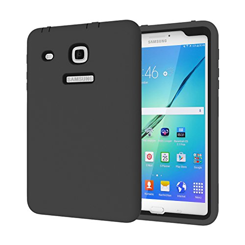Galaxy Tab E 8.0 Fall, beimu 3 in 1 Hybrid Armor Defender Schutz Cover für Samsung Galaxy Tab E 20,3 cm sm-t377 a/P/R/T/V Verizon/Sprint/US Cellular/at & T/T-Mobile 8 Zoll Tablet, All Black
