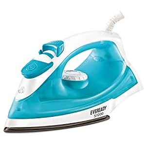 EVEREADY 1200 W Electric Self Cleaning Body Light Weight Dry Iron with LED Indicator and Heating Control, 360 Degree Swivel with Steam and Spray Function, 1.8 m Cord