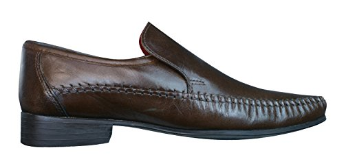 Red Tape Whittle hommes en cuir Loafers / Chaussures brown