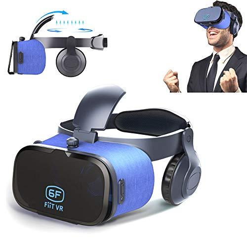 Lu VR-Brille, 3D-Perspektive Virtual-Reality-Helm 3D-Spiel Stereo-Kopfhörer umgeben audiovisuelle...