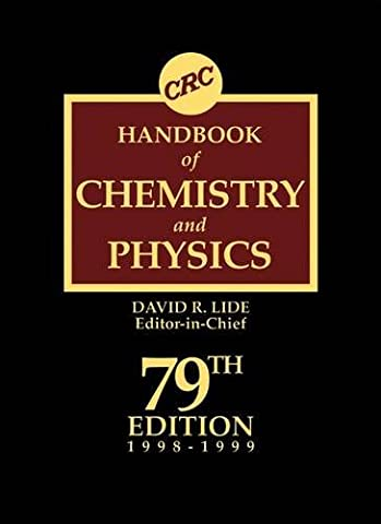 CRC Handbook of Chemistry and Physics 79th Edition
