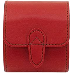 friedrich|23 Unisex Watch Roll for 1 Watch Genuine Leather 26390 Red - 4