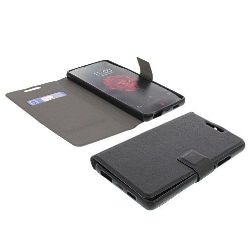 Tasche für ZTE Nubia Z9 Max Book Style ultra-dünn Schutz Hülle Buch Schwarz