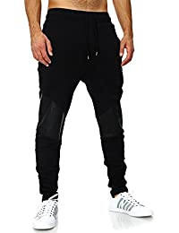 VSCT Clubwear Herren Jogginghose Mesh Leather Kneepatch