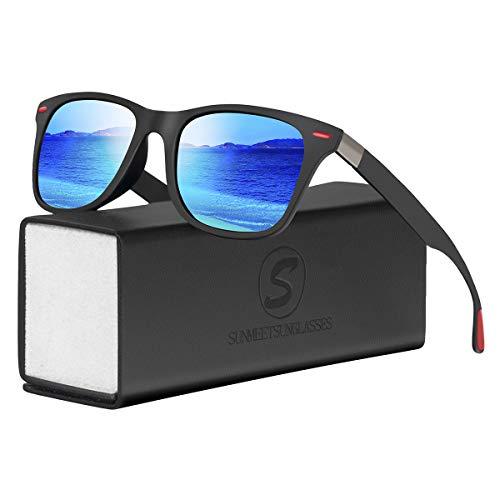 SUNMEET Gafas Sol Polarizadas Hombre Mujere Conducir