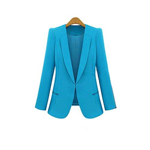 LHWY 2017 Femmes Candy slim Casual Suit blazer manteau veste Bleu
