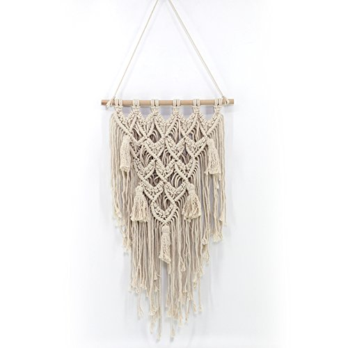 andbehang aus Baumwolle und Holz, Handgemachte Dekoration Böhmische Wanddeko, für Küche Zimmer Wand Dekor, 45 * 77cm ()