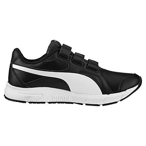 Puma Axis V4 Sl V, Baskets Basses Mixte Enfant Puma Black-Puma White