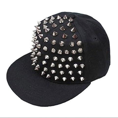 Casquette, Kolylong® Hommes Femme Hedgehog Rock Hip Hop Argent Rivet Stud De Spike Spiky Chapeau Casquette De Baseball