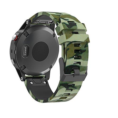 Yincol Armband für Garmin Fenix 5 / Forerunner 935, 22 mm Quickfit-Wechselarmband Ersatz Replacement band , Fashion Weiches Silikon Sportarmband Ersatzarmband Wrist Band Uhr Verstellbar(nicht für Fenix 5x & Fenix 5s)) (03, für Fenix 5 / Forerunner 935)