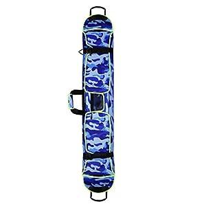 MagiDeal Snowboard Bag Snowboardtasche, Blau/Rot/Grün, einzeln oder doppelt Schultergurt, Großes Volumen